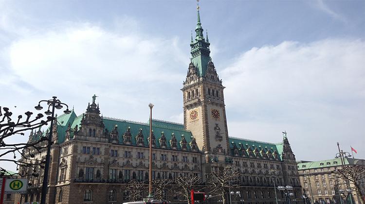 Ansicht des Hamburger Rathauses