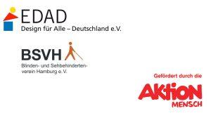 Logo EDAD, BSVH und Aktion Mensch